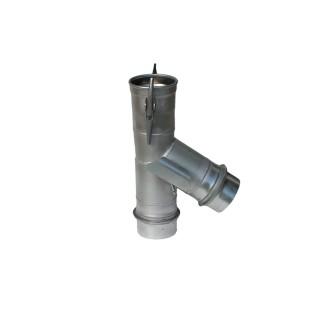Zweiwegstück Ø150mm l=0,6m mit Guma
