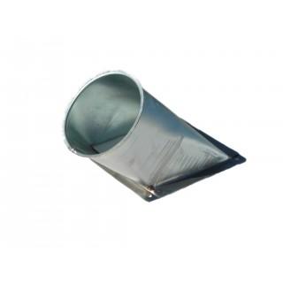 Auslauf 45°  ø150mm f.B. ohne Schieber